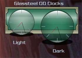 Glassteel OD Green Clocks