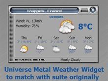 UniverseMetal Weather Widget