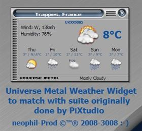 UniverseMetal Weather Widget
