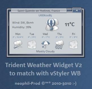 Trident Weather Widget V 2