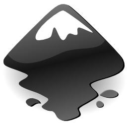 Inkscape Glossy Black Logo
