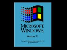Windows 3.1 bootscreen