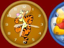 Winnie the poon, tiger, and piglet clock pack