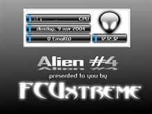 Alien Black on White Digital Clock