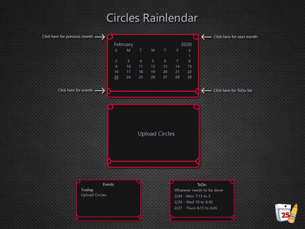 Circles Rainlendar