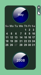 Vista Crystal Blue Calendar Rounded Corners