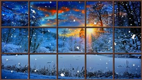 Winter_Sunset_Window_4K