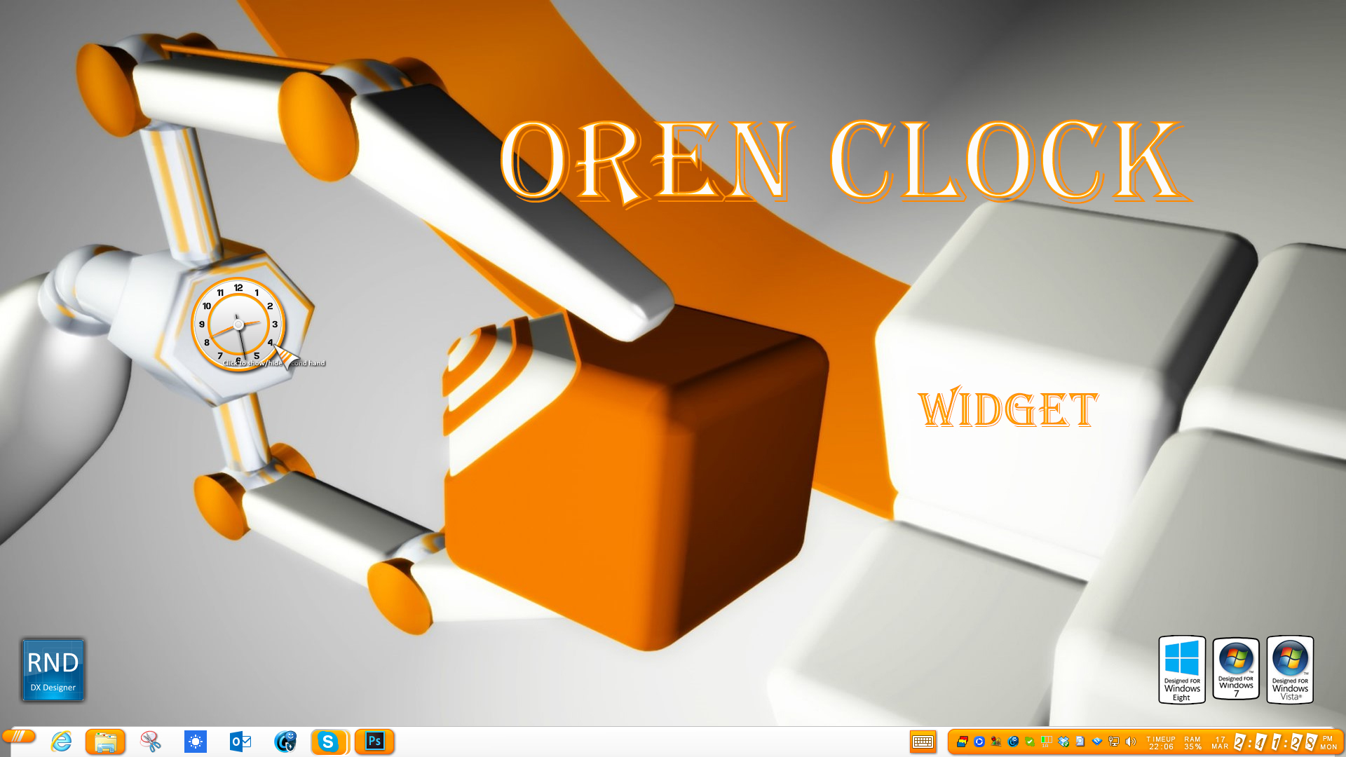 Oren Clock Widget