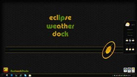 Eclipse Weather Dock Gadget