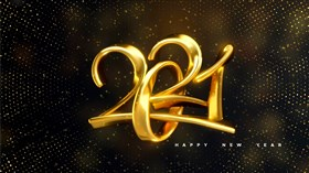 4K Happy New Year 2021