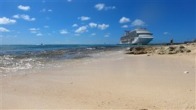 Cruise Ship on the Beach