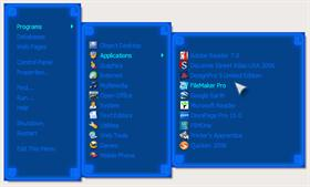 Blue Neon RightClick Menu
