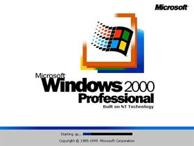 Windows 2000 Professional Bootscreen