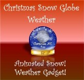 Christmas Snow Globe Weather