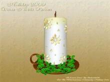 Holiday Candle Screen Saver